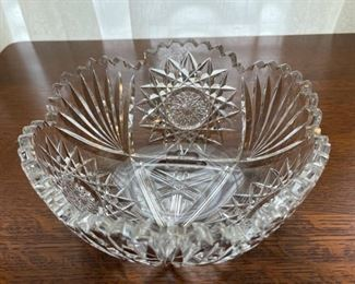 "$20.00...................Vintage Cut Glass Bowl 8"" diameter (B345)"