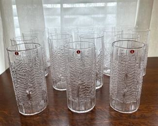 "$200.00................Iittali  Kuusi Finish Glassware Spruce Tree, 17 Glasses 5 1/2"" tall (B343)"
