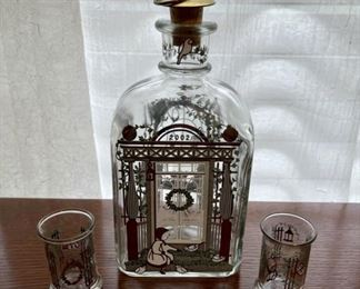 $20.00...................Decanter & 2 Glasses 2002 (B338)