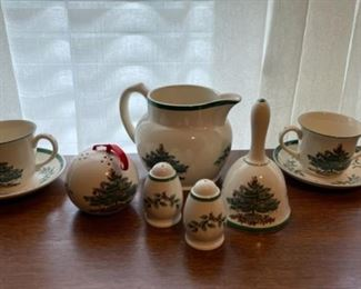 $24.00........................Spode Christmas Tree Bell, Salt & Pepper and more (B336)