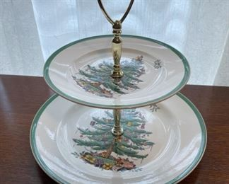 $20.00.................Spode Christmas TreeTiered Plate (B333)