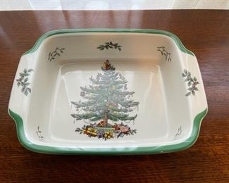 "$16.00.................Spode Christmas Tree Square Bowl 12"" (B330)"