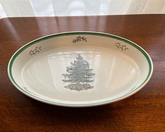 "$16.00.................Spode Christmas Tree Bowl 14 1/2"" (B331)"
