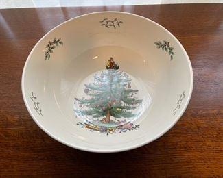 "$16.00.................Spode Christmas Tree Bowl  10"" diameter (B332)"