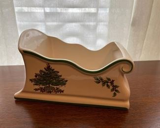 "$25.00.................Spode Christmas Tree Sleigh 8 1/2"" (B324)"