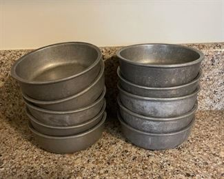 "$60.00.....................10 RWP Pewter Bowls @ 5 1/4"" tall (B298)"