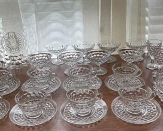$60.00...................Fostoria American Cups and Saucers, Sherbets and more (B295)