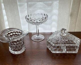 $25.00..................Fostoria American Glassware lot (B292)