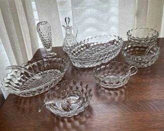 $45.00...................Fostoria American Glassware lot (B293)