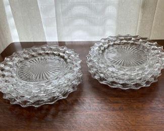 "$40.00................American Fostoria Plates, 8 @ 8"" diameter plates (B294)"