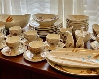 "$450.00..................Over 50 Pieces of Vintage Red Wing ""Random Harvest"" Dinnerware, all in this picture no crack or chips!  (B284)"