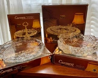 $80.00..............Set of 4 Mikasa Carmen Satiniert Glassware w/original boxes  (B276)