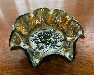 "$20.00.....................7 1/2"" diameter Carnival Glass Bowl (B280)"