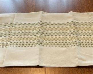 "$12.00..................Tablecloth, few small stains 67"" x 49"" few stains (B400)"