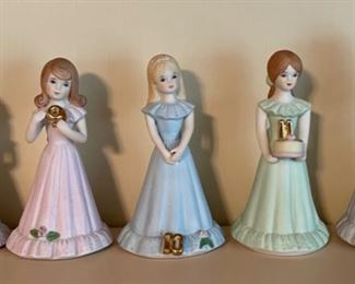 $25.00.........Growing Up Birthday Girls by Enesco 8 - 12 (B394)
