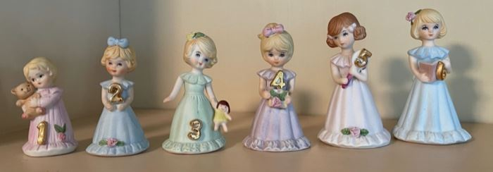 $30.00.............Growing Up Birthday Girls by Enesco 1 - 6