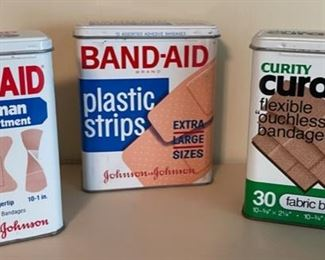 $10.00.................3 Band Aid Tin Boxes (B436)
