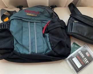 $45.00...............Marmot Walkabout Bag and leather fanny pack (B450)