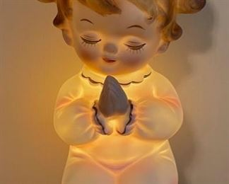 $20.00...................Lefton Praying Girl Night Light (B453)