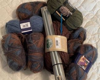 $12.00.....................Yarn and Knitting Needles (B452)