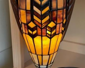 "$30.00................Stained Glass Lamp 16 1/2"" tall (B501)"