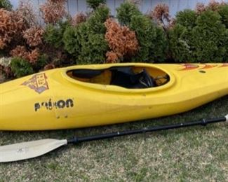 "$500.00......................105"" long Prijon Kayak # 4813, Werner Paddle  (B536)"