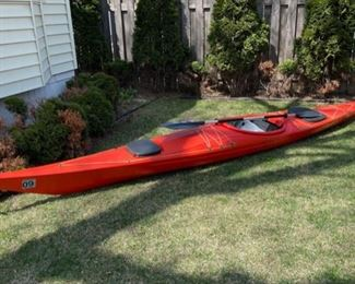 "$800.00...............Capella Sea Kayak  200"" long, Carlisle Day Tripper Paddle  (B539)"