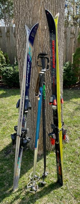 $40.00.................Set of 2 Downhill Ski Sets with Poles (B553)