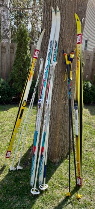 $150.00................Set of 3 Cross Country Skis Sets  (B555)