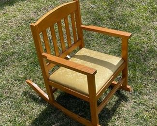$25.00.................Childs Rocking Chair (B564)