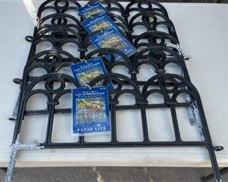 "$25.00.......................     Set of 6 Cast Aluminum Fencing 13"" x 18""  (B576)"