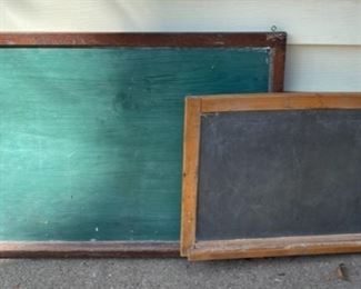 $80.00...................2 Vintage Wall Chalkboards with chalk trays (B604)