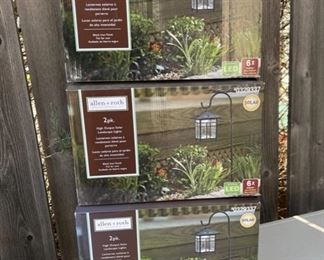 $25.00 each box....................New in Box Allen Roth 2 Pack Path Light Kits 3 boxes available (B602)
