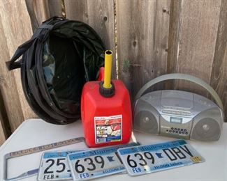 $10.00................Gas Can, Garage Radio and more (B613)