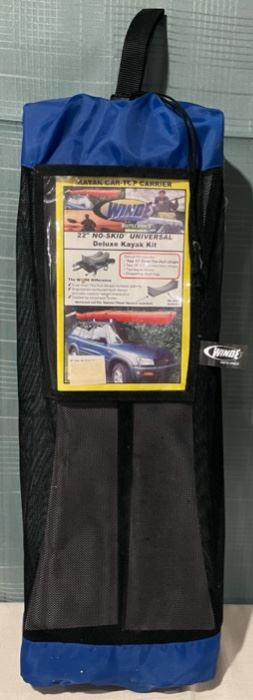 "$40.00.....................Winde 22"" No Skid Universal Deluxe Kayak Kit Car Top Carrier (B646)"