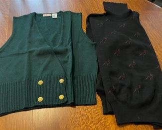 $20.00..............Wool Vest and Sweater both Large (B764)