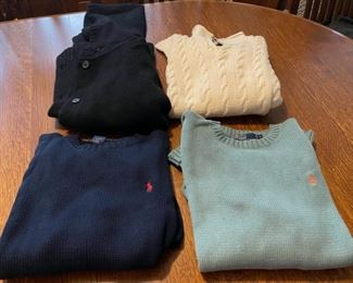 $24.00.........................1 Small and 3 Medium Ralph Lauren Sweaters (B765)