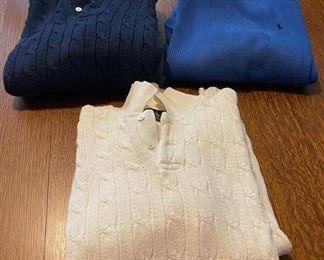 $18.00....................3 Large Ralph Lauren Sweaters (B766)