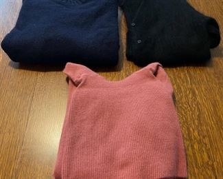 $30.00..................2 medium and 1 small wool sweaters (B761)
