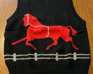 $30.00...................Vintage Robert Scott Shetland Wool Vest size 38 (B745)