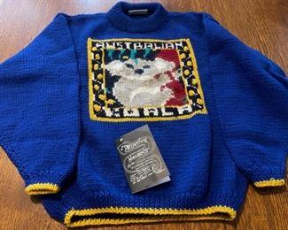 $25.00..............Hand Knit Australia Ruth Fitzpatrick Small (B743)