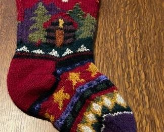 $12.00....................Knit Wool Christmas Stocking (B852)
