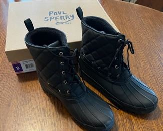 $25.00...................Paul Sperry Boots size 8 (B829)
