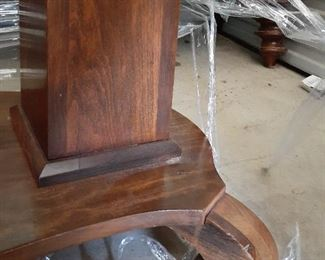 Added photo.  foyer console table detail of base.  good condition