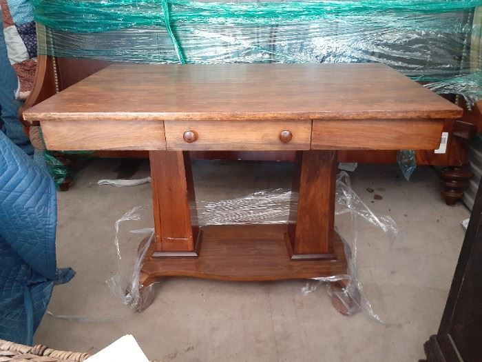 NEW Price $240.00  Antique foyer console table with drawer.  great condition.