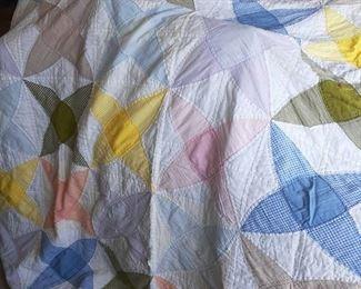 New Price 80.00    Antique Pinwheel Quilt
