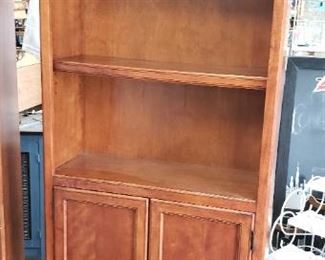 "(2) 30"" W x 72.5""H x 13""D at top Upscale Solid Wood Book Cases with Bottom Doors $395 for Pair $225 for choice"