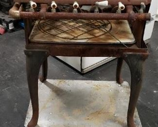 "Antique Griswold Style 2' Cast Iron 4 Burner Porcelain Handles Gas Stove 24""W x 21""D x 31.5""H (Has Surface Rust)  $495"