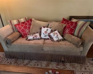 Couch and Love Seat from the Mart. Pillows included