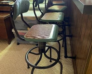 Six Mid-Century Western Electric Operator Chairs